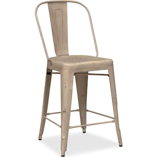 Olin Splat-Back Counter-Height Stool - Ivory