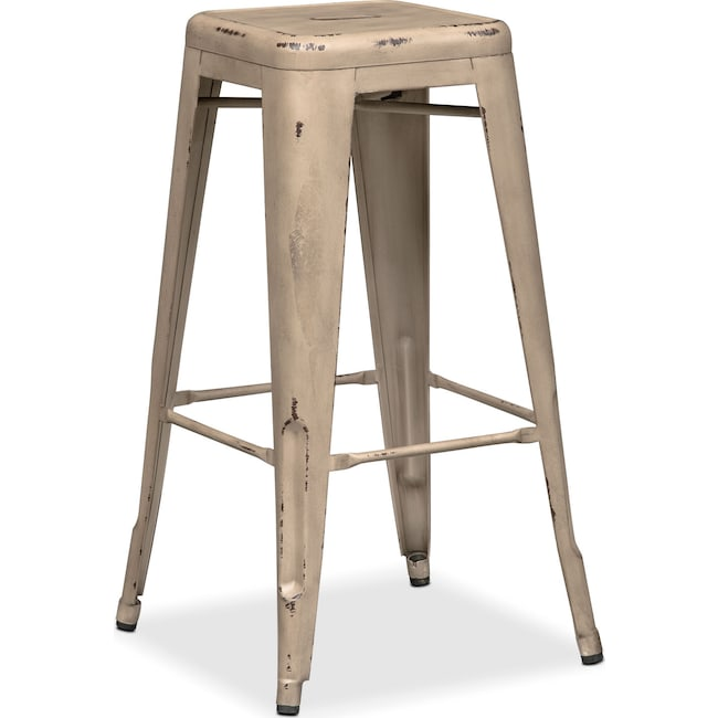 Dining Room Furniture - Olin Backless Barstool - Ivory