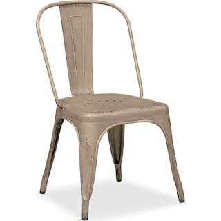 Olin Splat-Back Side Chair - Ivory