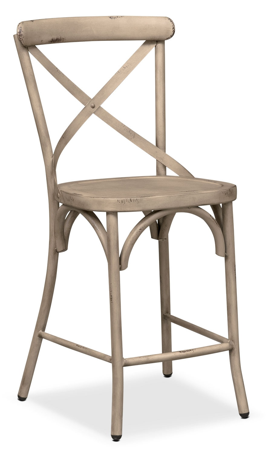 Dining Room Furniture - Saxon X-Back Counter-Height Stool - Ivory
