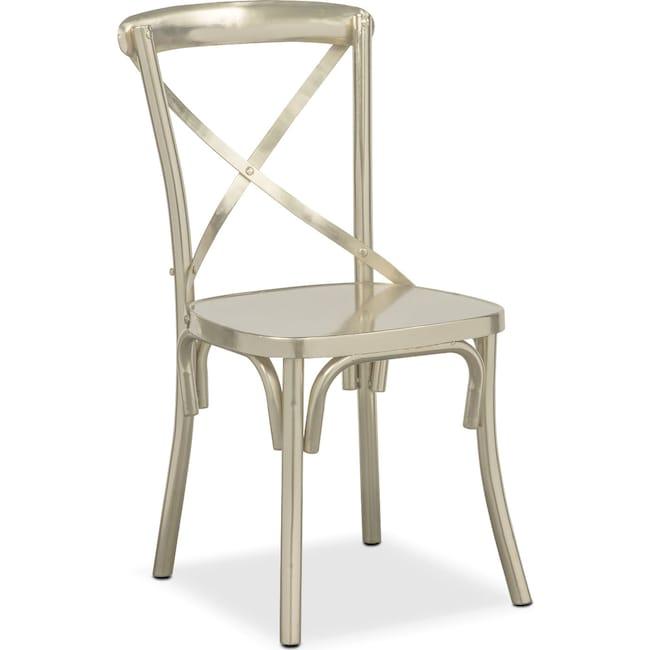 Dining Room Furniture - Braddock Side Chair - Nickel