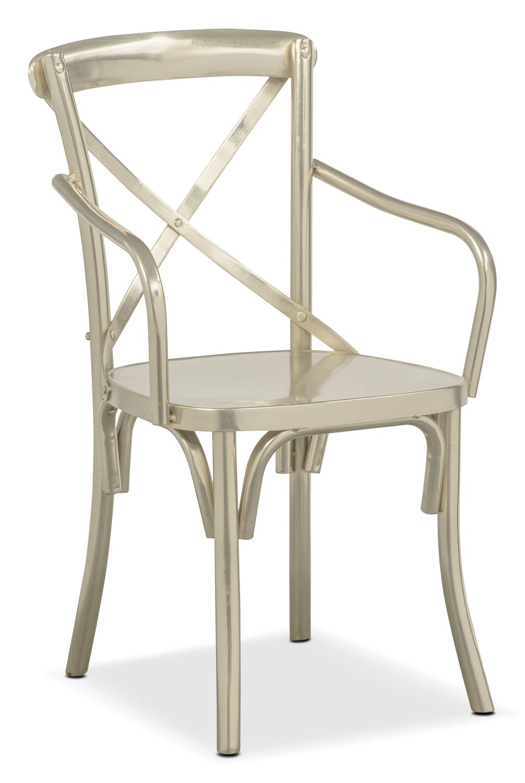 Dining Room Furniture - Braddock Arm Chair - Nickel