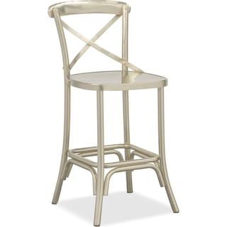 Braddock Counter-Height Stool - Nickel
