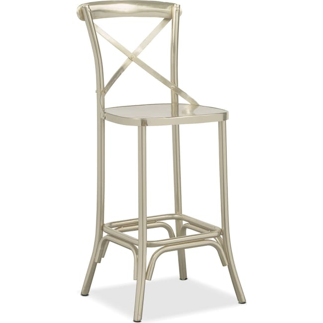 Dining Room Furniture - Braddock Barstool - Nickel