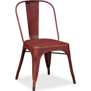 Olin Splat-Back Side Chair - Red