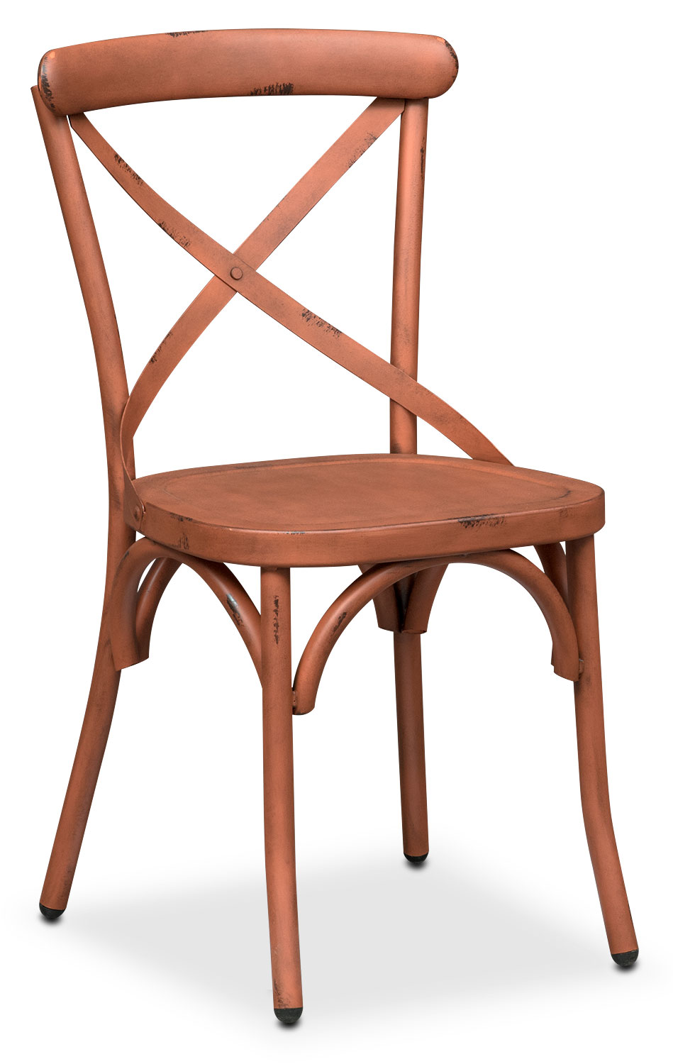 Dining Room Furniture - Saxon X Back Side Chair - Orange