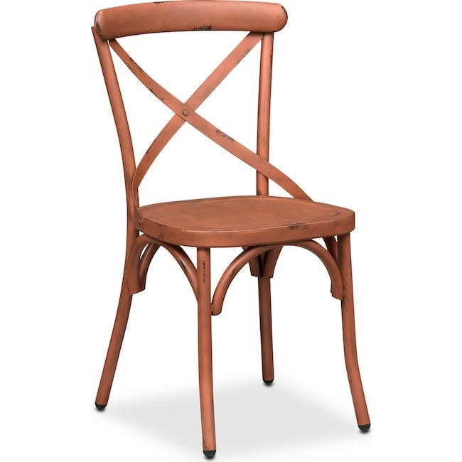 Dining Room Furniture - Saxon X Back Side Chair - Orange