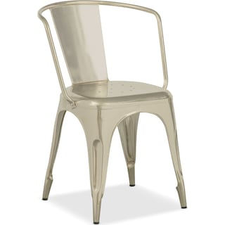 Holden Splat-Back Arm Chair - Nickel