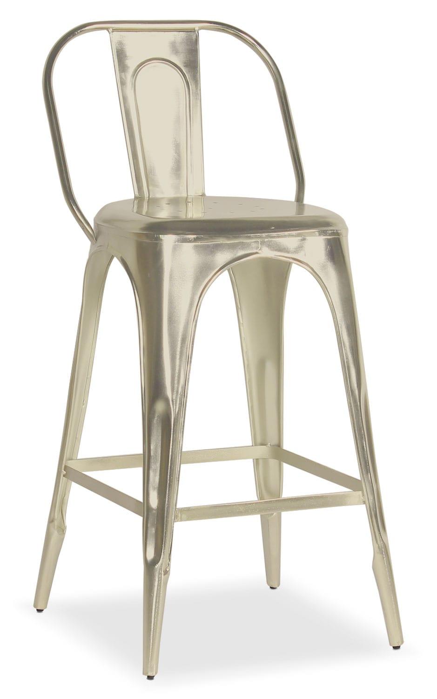 Dining Room Furniture - Holden Splat-Back Barstool - Nickel