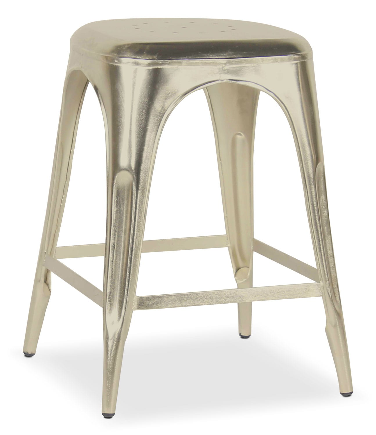 Dining Room Furniture - Holden Backless Counter-Height Stool - Nickel