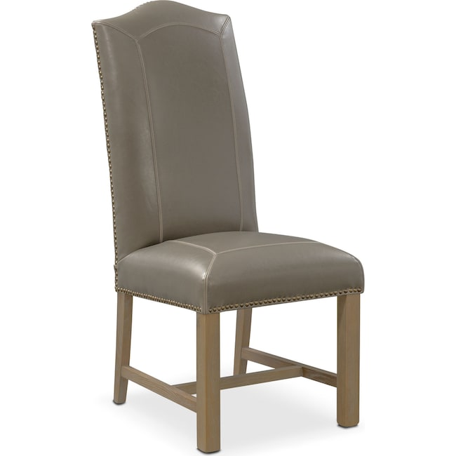 Living Room Furniture - Cloister Side Chair - Gray