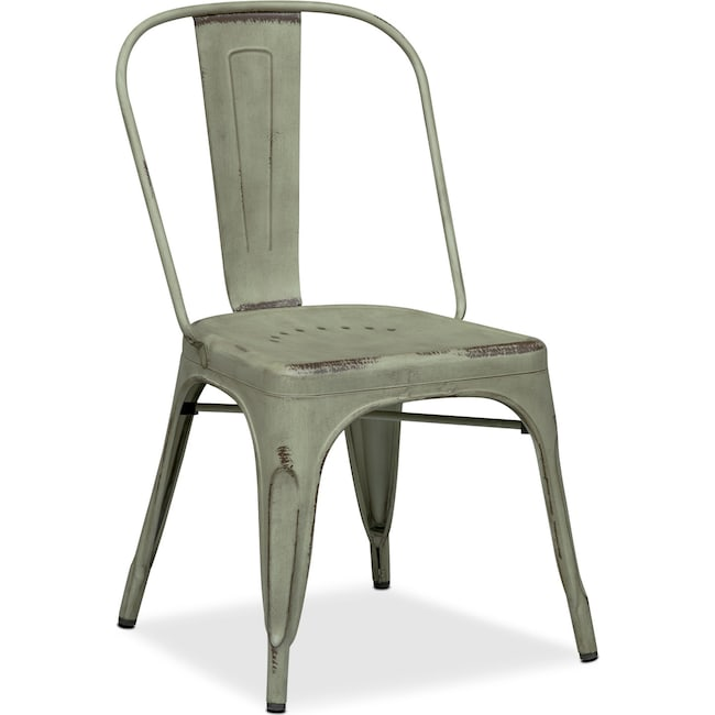 Dining Room Furniture - Olin Splat-Back Side Chair - Green