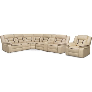 The Remi Power Reclining Collection - Cream