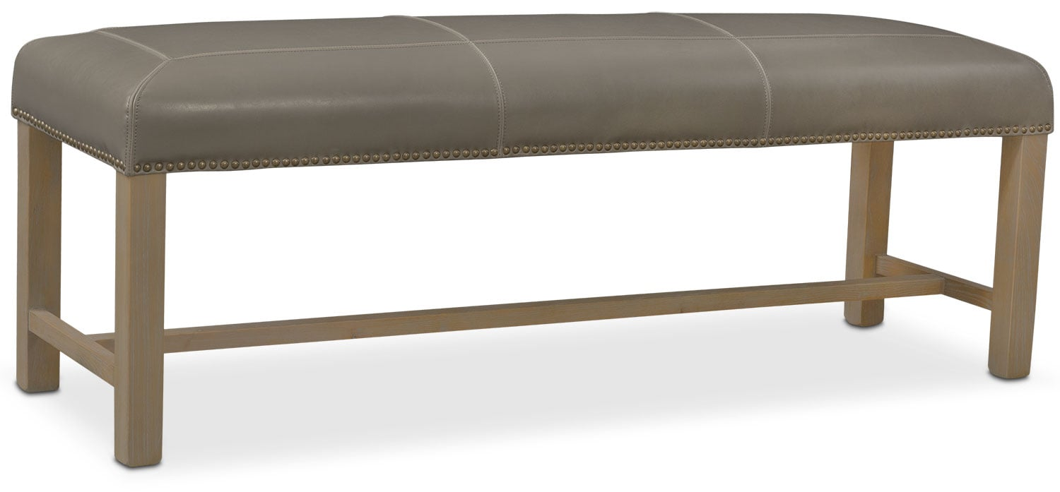 Living Room Furniture - Cloister Bench - Gray
