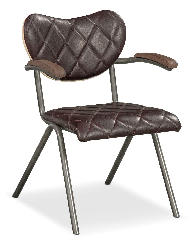 Dining Room Furniture - Fairfax Arm Chair - Brown