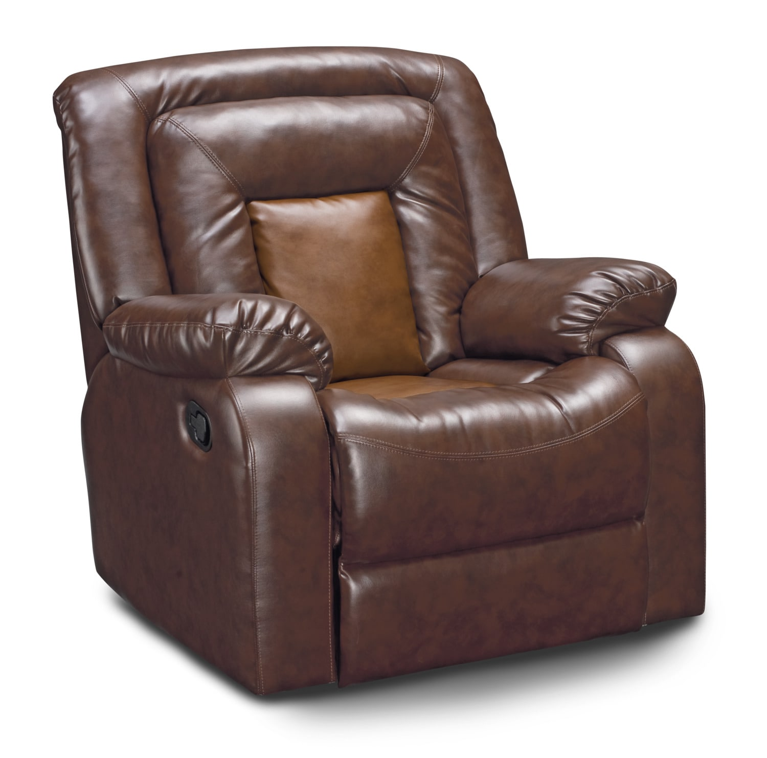 Mustang Dual Reclining Sofa Dual Reclining Loveseat And Recliner Set Brown American