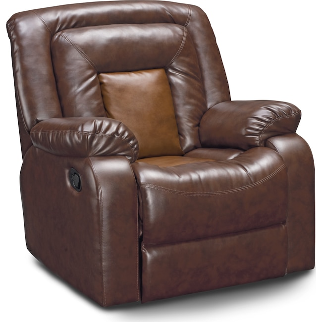 Living Room Furniture - Mustang Recliner - Brown
