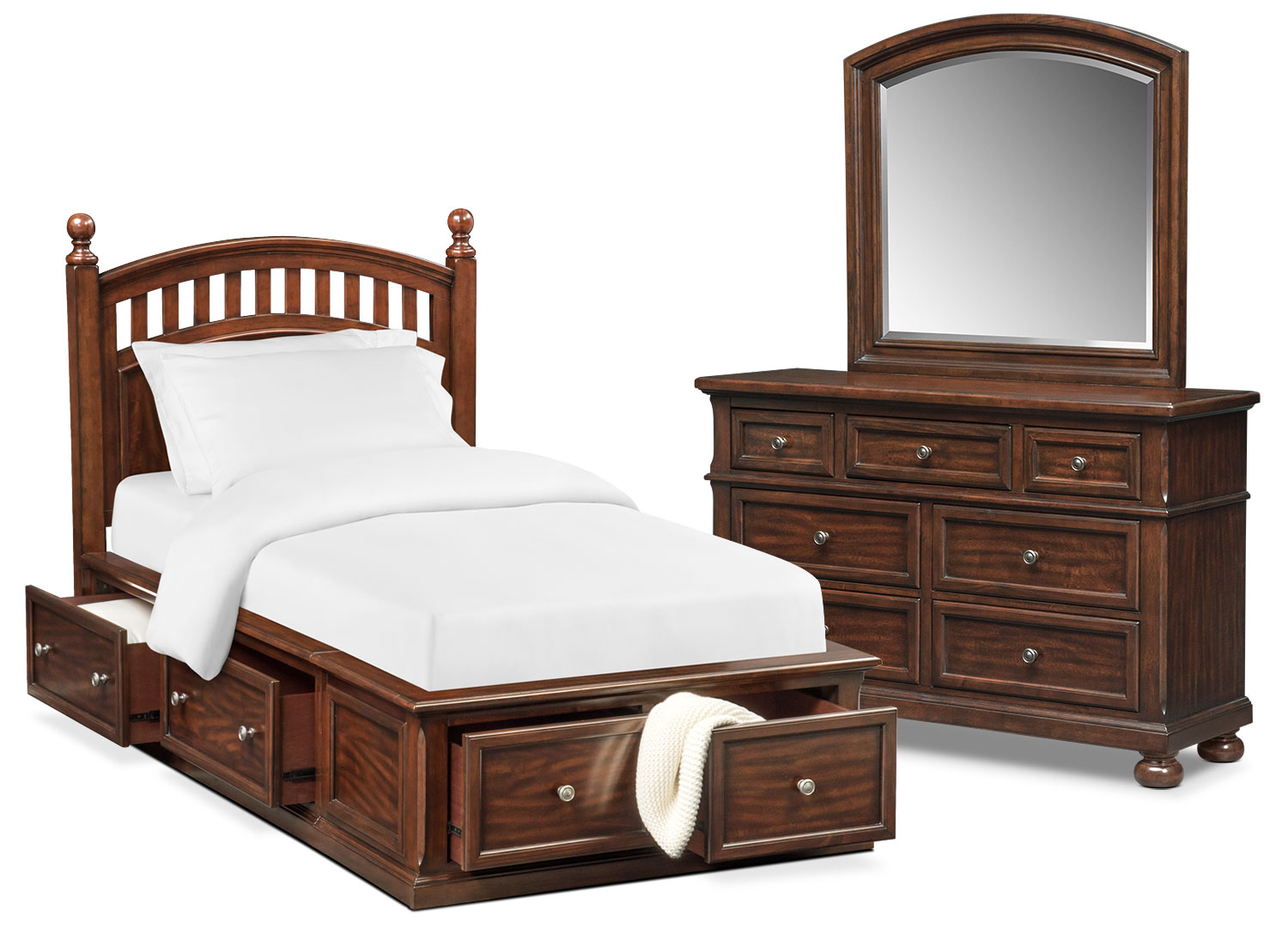 american signature bedroom furniture hanover youth 5 poster bedroom set with storage 14013