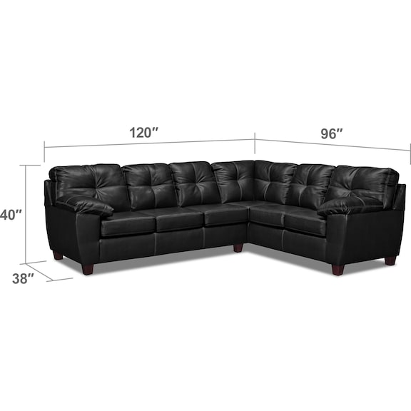 Living Room Furniture - Ricardo 2-Piece Sectional with Sofa