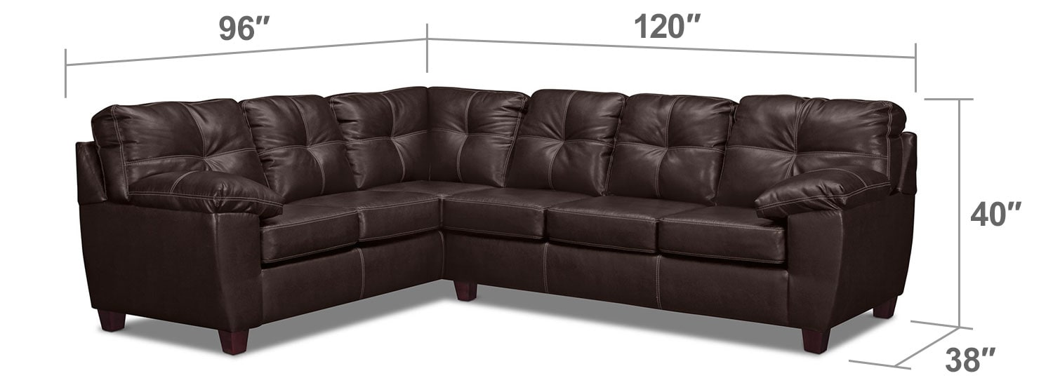 Living Room Furniture - Rialto Brown 2-Pc. Sectional with Left-Facing Corner Sofa