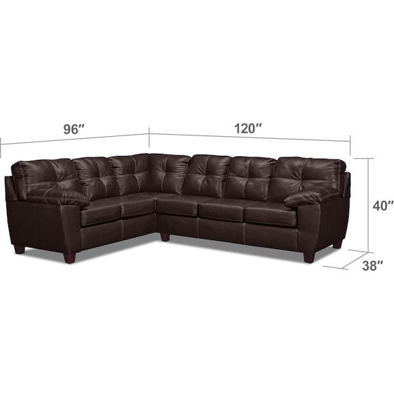 Ricardo 2 Piece Sectional With Left Facing Sofa Brown