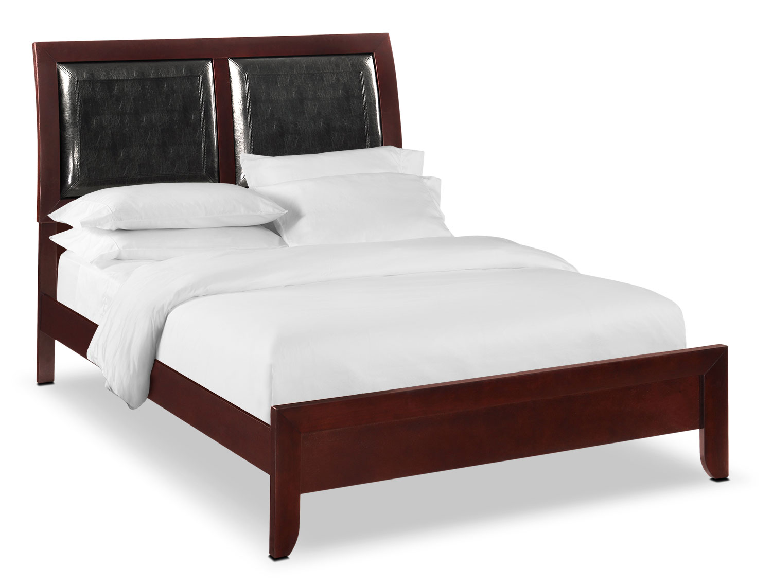 Braden Queen Upholstered Bed - Merlot