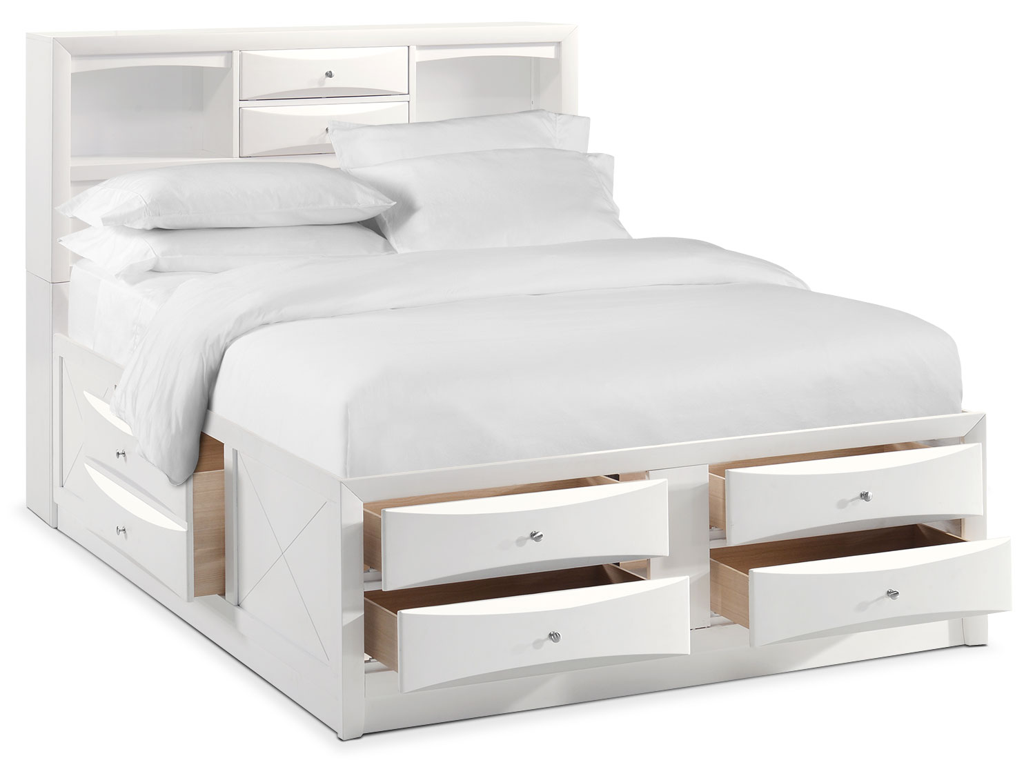 braden full bookcase bed with storage white american. Black Bedroom Furniture Sets. Home Design Ideas