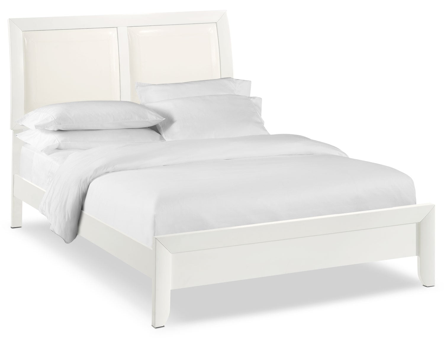 Braden Queen Upholstered Bed - White