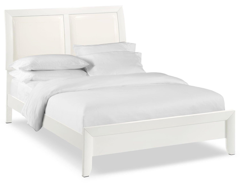 Bedroom Furniture - Braden Queen Upholstered Bed - White