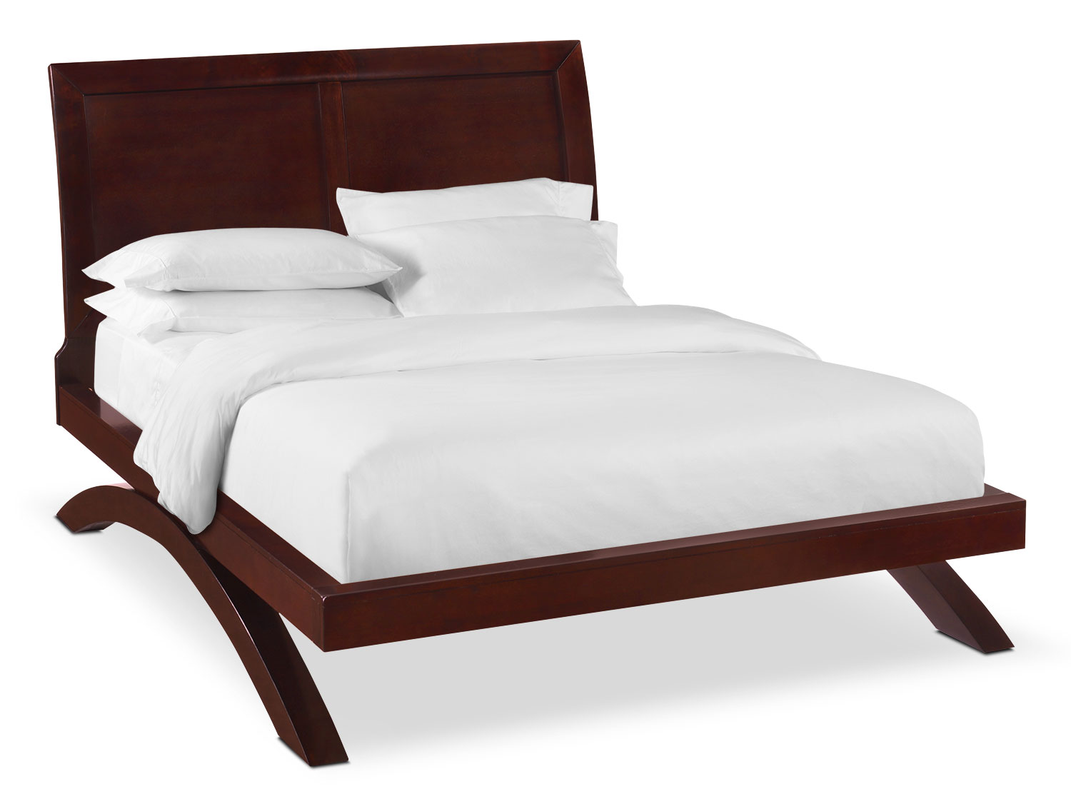 Bedroom Furniture - Jaden King Arch Bed - Merlot