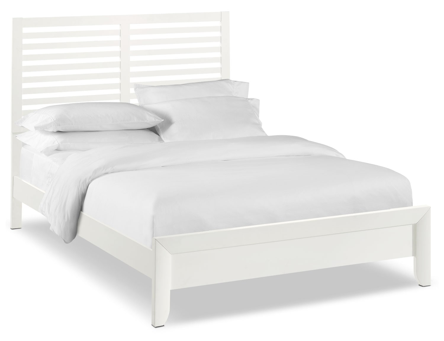 Braden Queen Slat Bed - White