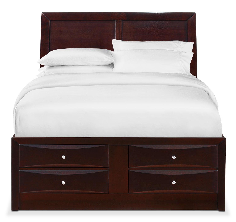Braden King Storage Bed Merlot American Signature