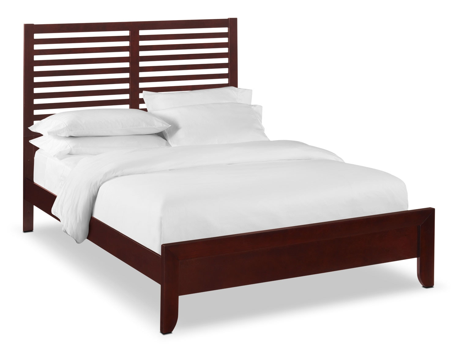 Braden Queen Slat Bed - Merlot