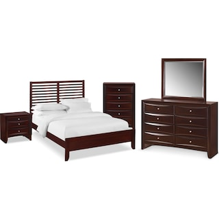 The Braden Slat Bedroom Collection - Merlot