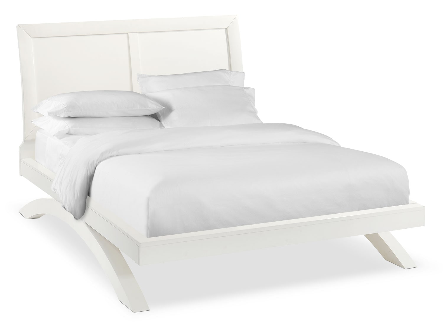 Jaden Queen Arch Bed - White