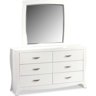 Jaden Dresser and Mirror - White