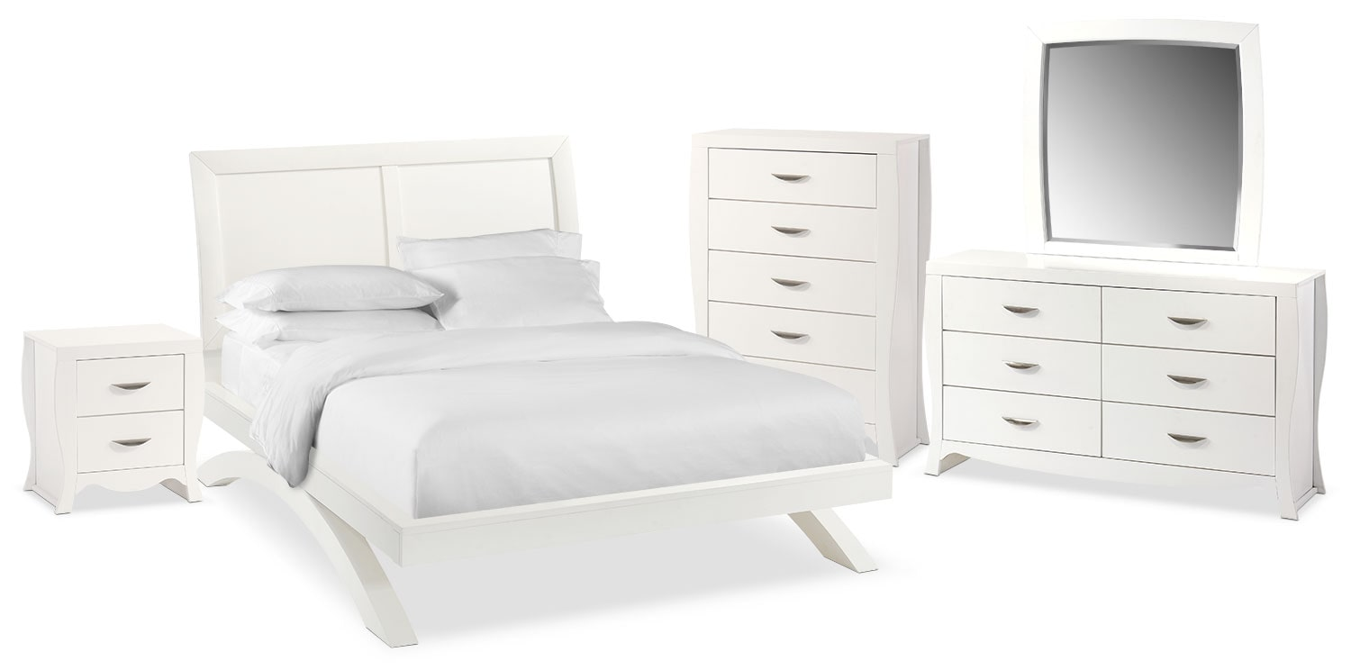 The Jaden Arch Bedroom Collection - White