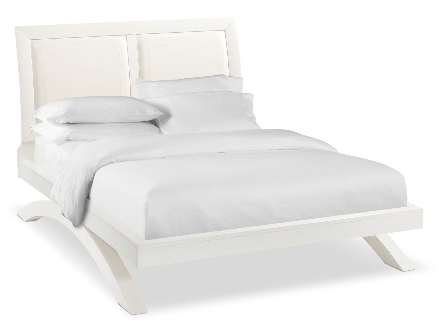 Jaden King Upholstered Arch Bed - White