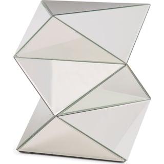 Glacier Mirrored Pedestal - Clear