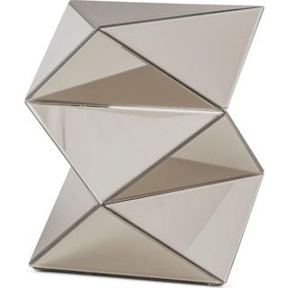 Glacier Mirrored Pedestal - Gray