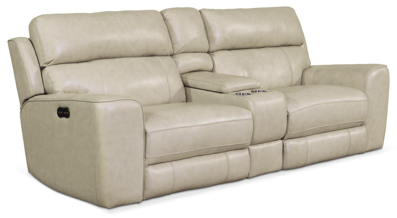 Newport 3-Piece Power Reclining Sofa - Cream