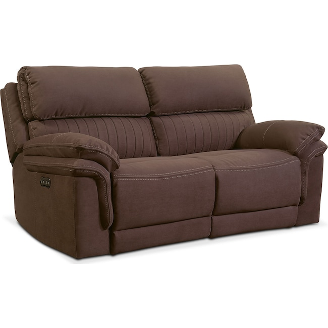 Living Room Furniture - Monterey 2-Piece Power Reclining Loveseat - Mocha