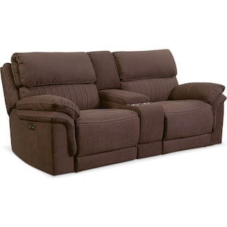 Monterey 3-Piece Power Reclining Sofa with Console - Mocha