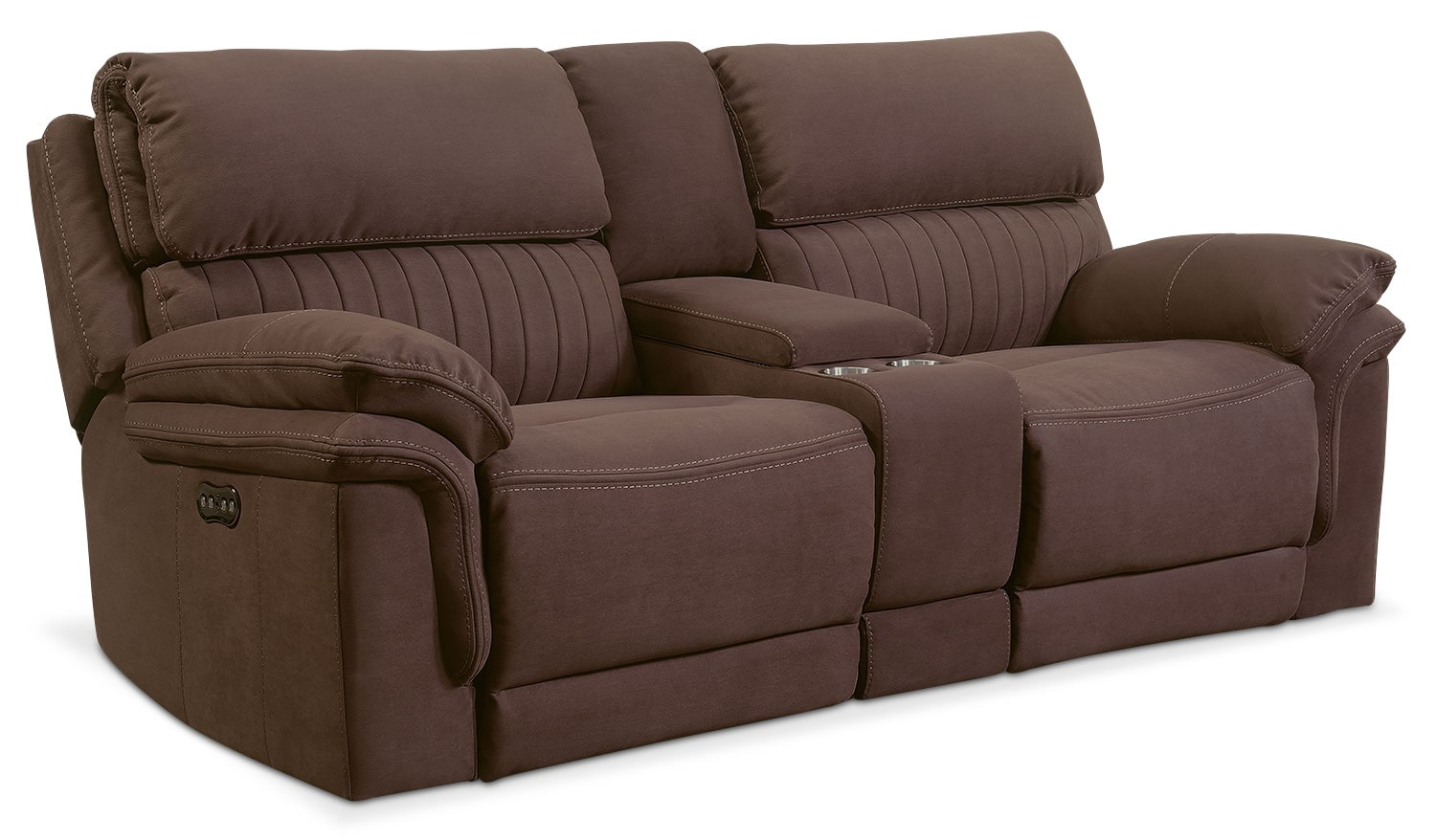 Bon Living Room Furniture   Monterey 3 Piece Power Reclining Sofa With Console    Mocha
