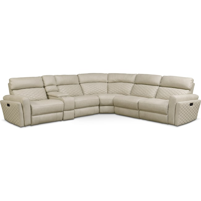 Catalina 6 Piece Power Reclining Sectional with 2 Reclining Seats