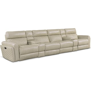 Catalina 5-Piece Power Reclining Sectional with 4 Reclining Seats