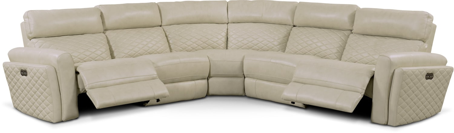 Astonishing Catalina 5 Piece Power Reclining Sectional With 2 Reclining Seats Squirreltailoven Fun Painted Chair Ideas Images Squirreltailovenorg