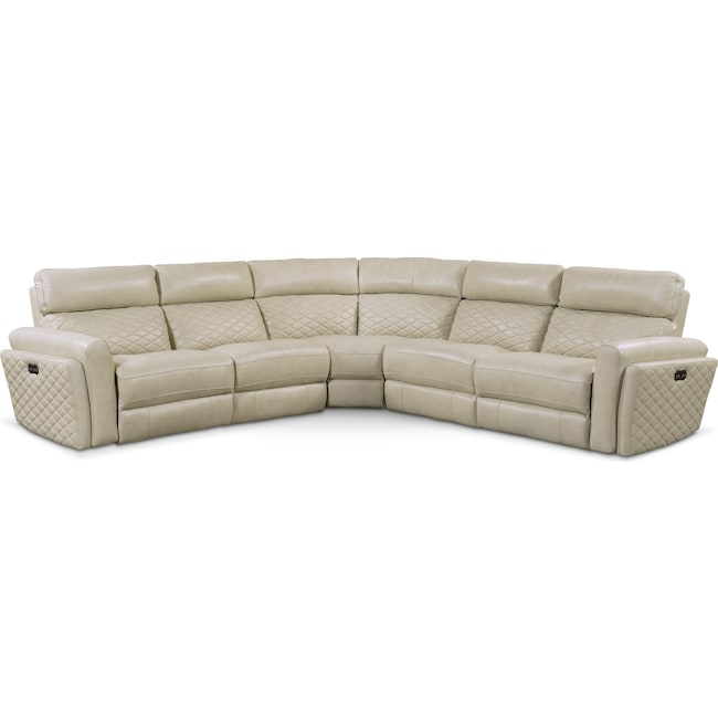 Living Room Furniture - Catalina 5-Piece Dual-Power Reclining Sectional with 2 Reclining Seats