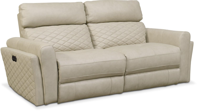 Living Room Furniture   Catalina 2 Piece Power Reclining Sofa   Cream
