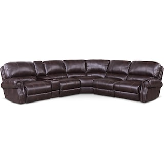 Dartmouth 6-Piece Dual-Power Reclining Sectional with 2 Reclining Seats